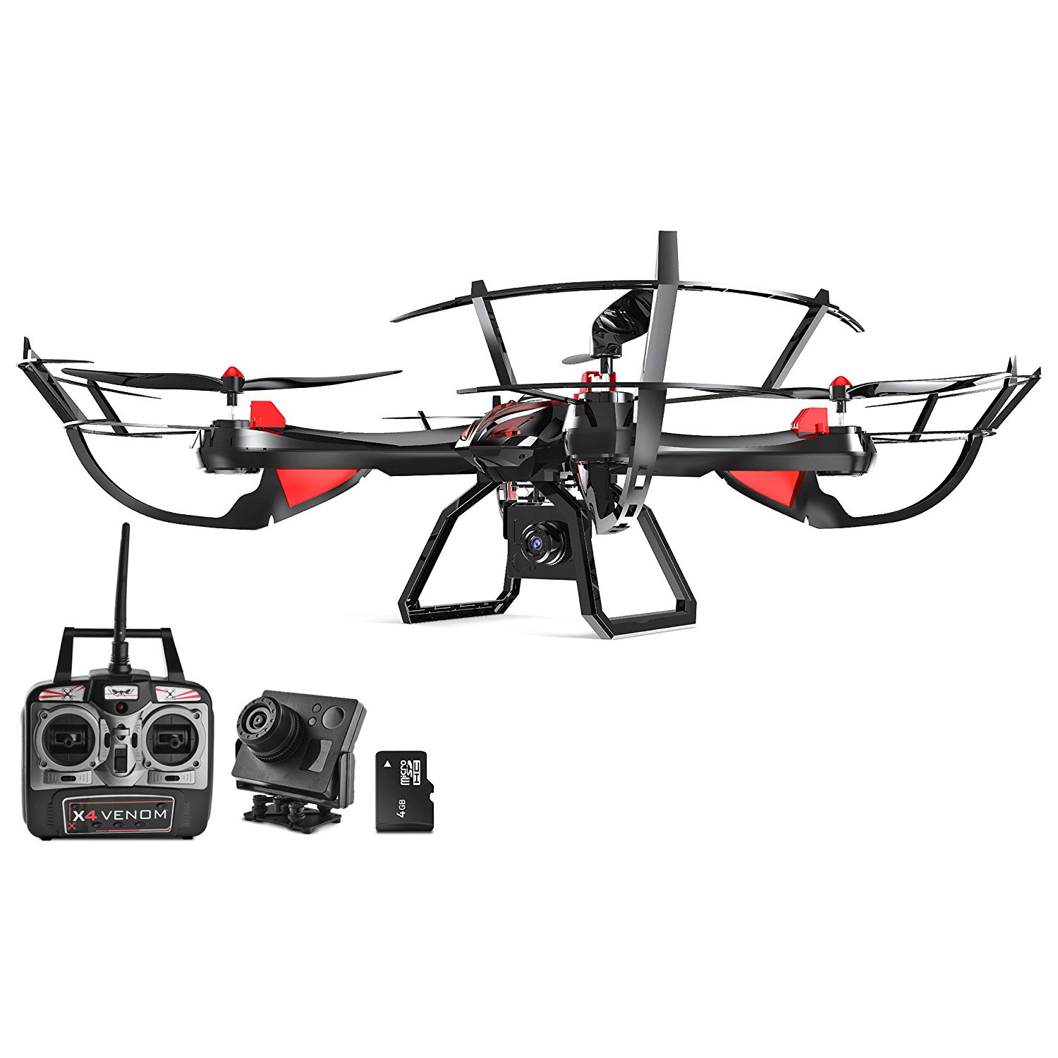 dynamic aerial systems x4 venom 4ch 6 axis gyro rc remote control quadcopter drone with. Black Bedroom Furniture Sets. Home Design Ideas